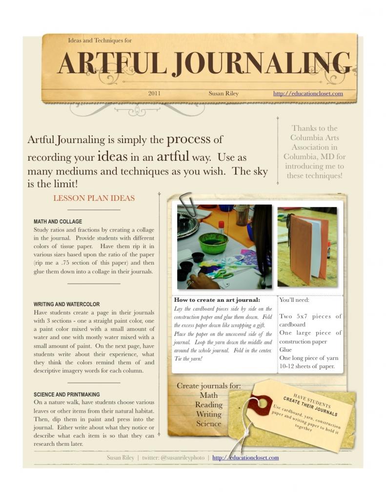 artful student journaling