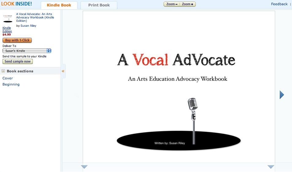 Arts Advocacy for All, Education Closet