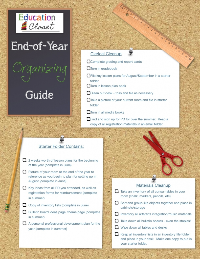 End of the Year Organizer, Education Closet