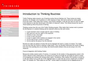 visible thinking, Unpack Thinking. Education Closet