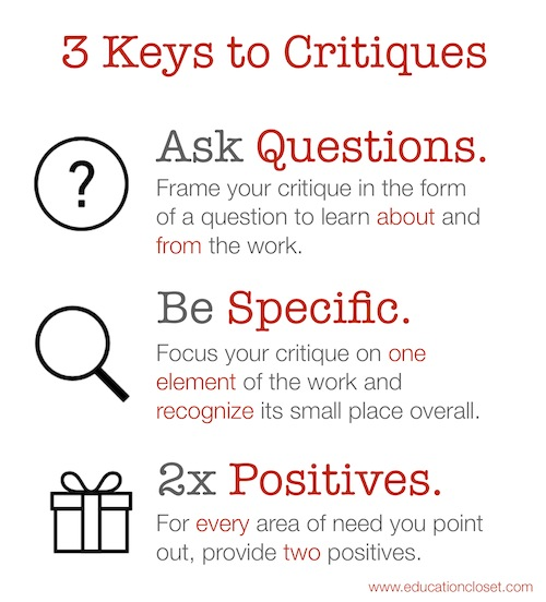 3 Ways to Move from Critical to Critique, Education Closet
