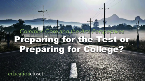 Preparing for the Test or Preparing for College, Education Closet