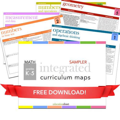 Introducing Integrated Math Maps, Education Closet