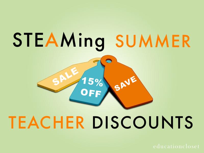 STEAMing Summer Teacher Deals, Education Closet