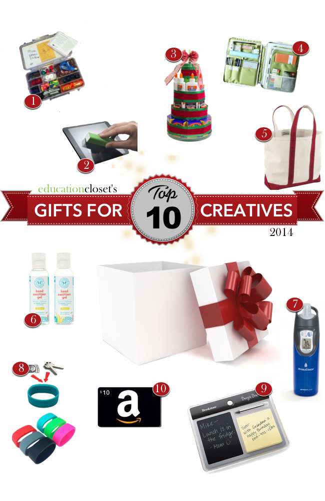 Top 10 Holiday Gifts for Creatives, Education Closet