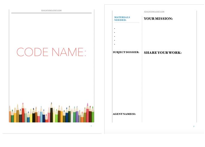 code name confidential sample educationcloset