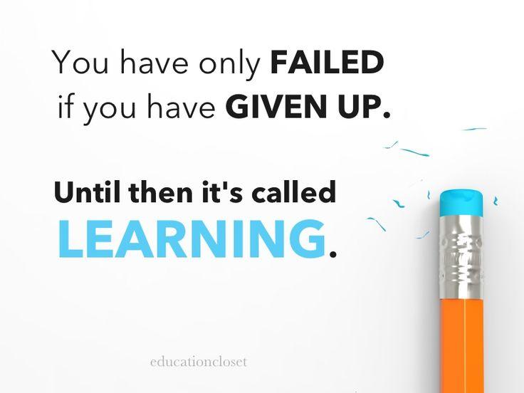 Failure and learning, Education Closet