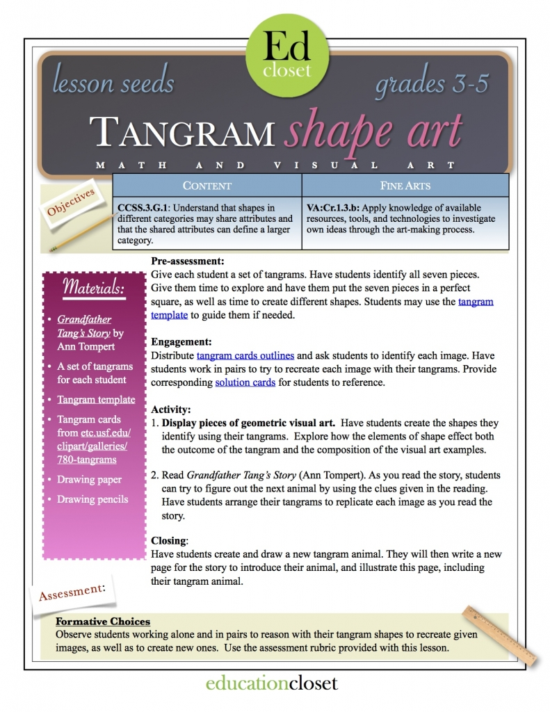 tangram shape art