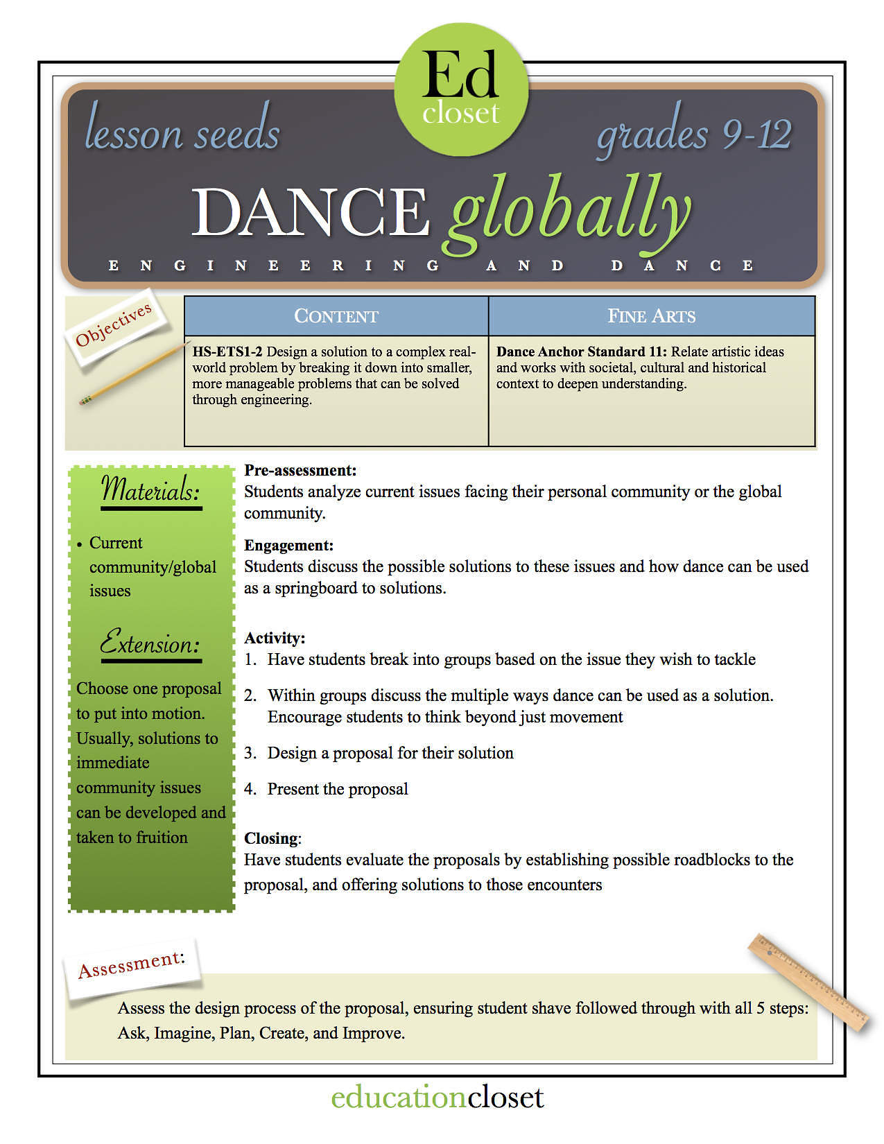 dance globally, Studio STEAM-Up Recap, Education Closet