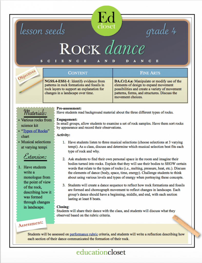Rock Dance, One Standard, Four Seeds, Education Closet