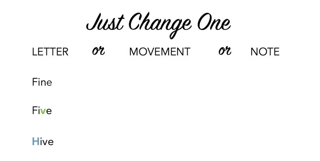 just change one