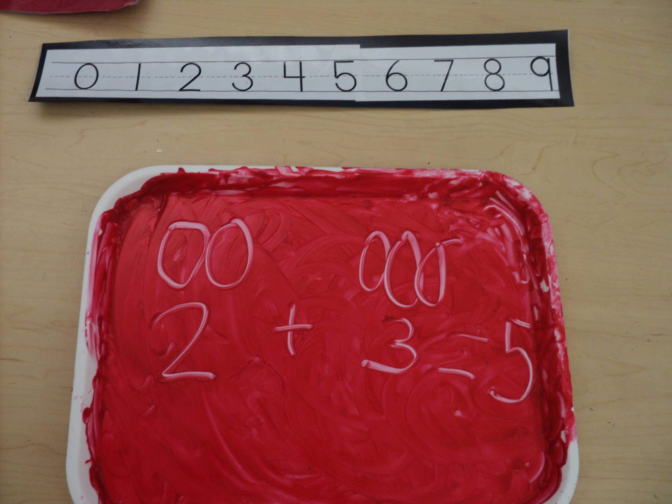 Finger paint math
