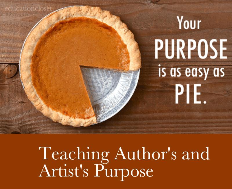 Author's Purpose, Education Closet