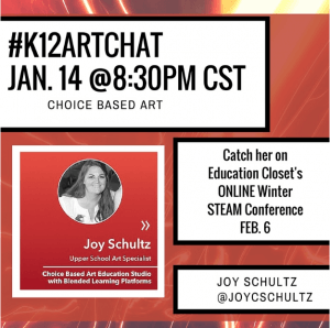 #K12ArtChat is all about the STEAM in 2016, Education Closet
