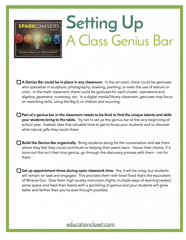 How to Create a Class Genius Bar