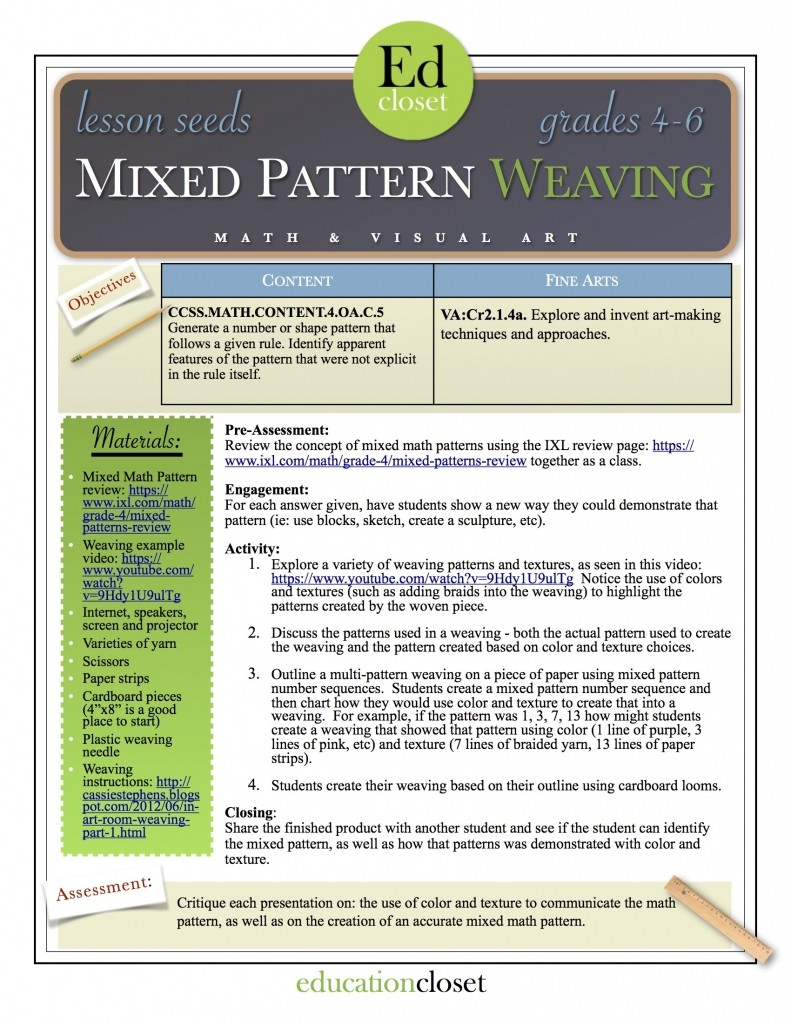 Mixed Pattern Weaving