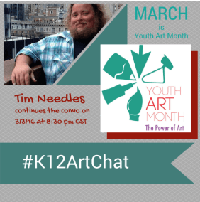 Youth Art Month, K12ArtChat, Education Closet