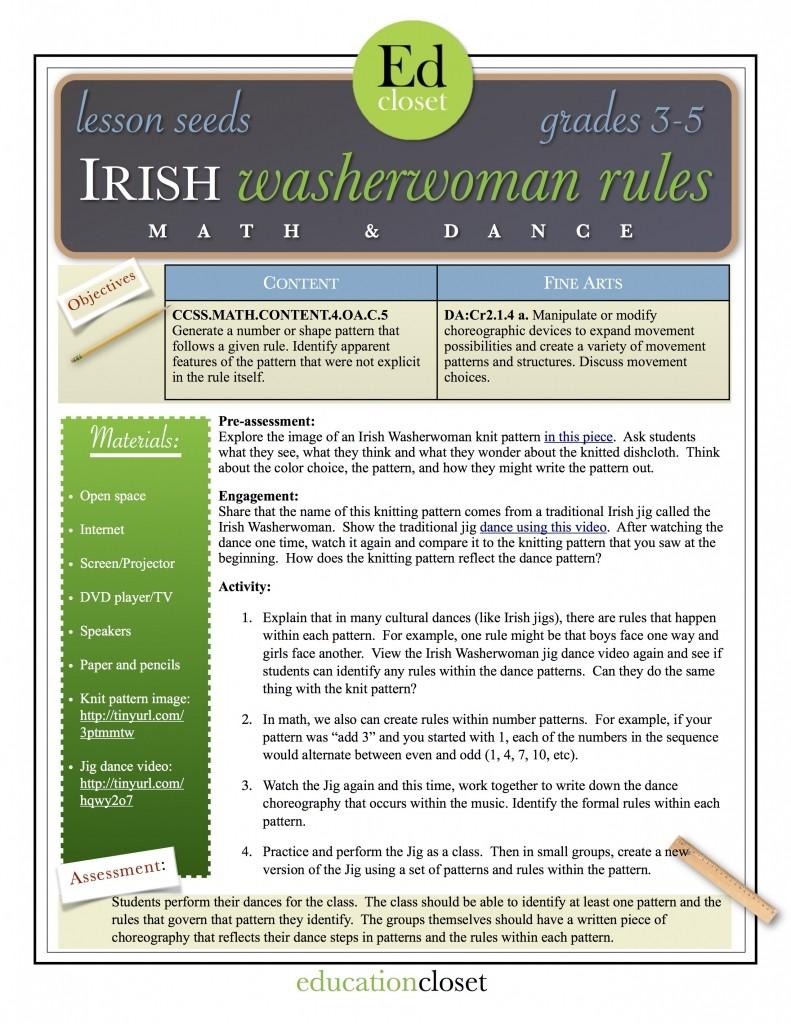 irish washerwoman rules