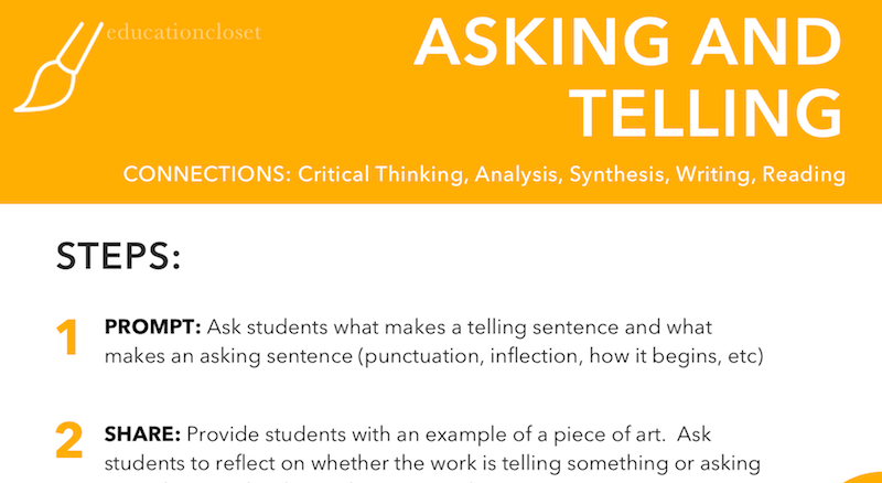 Asking and Telling Strategy Video, Education Closet