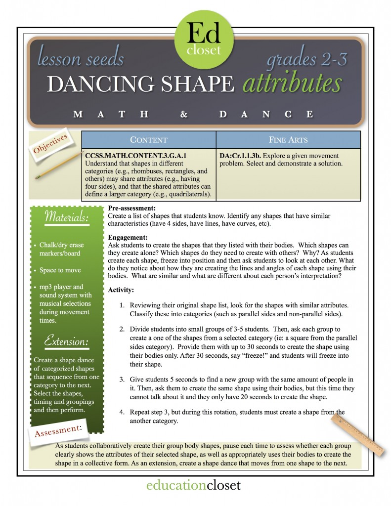dancing shape attributes