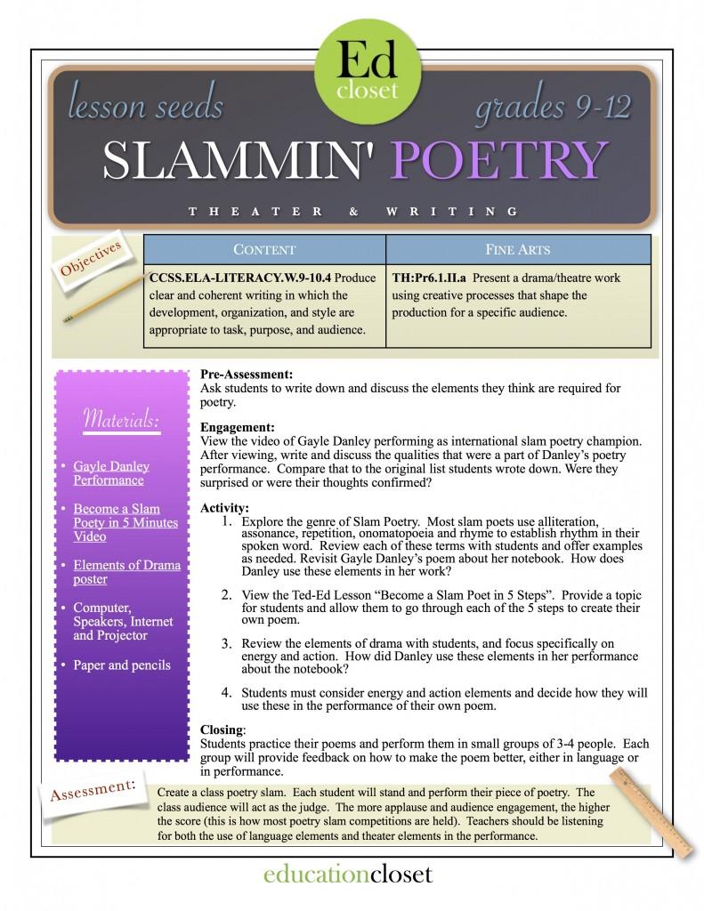 slammin poetry