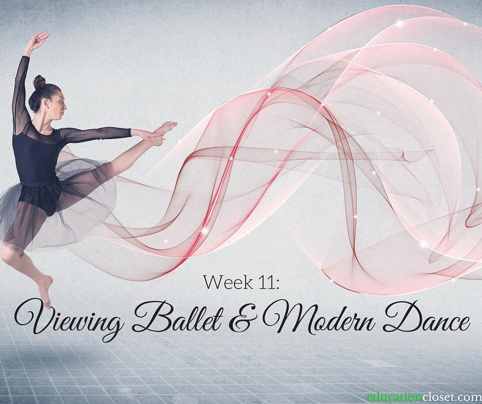 Week 11: Viewing Ballet & Modern Dance