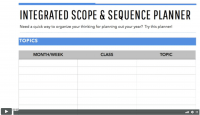 Scope and Sequence Planner