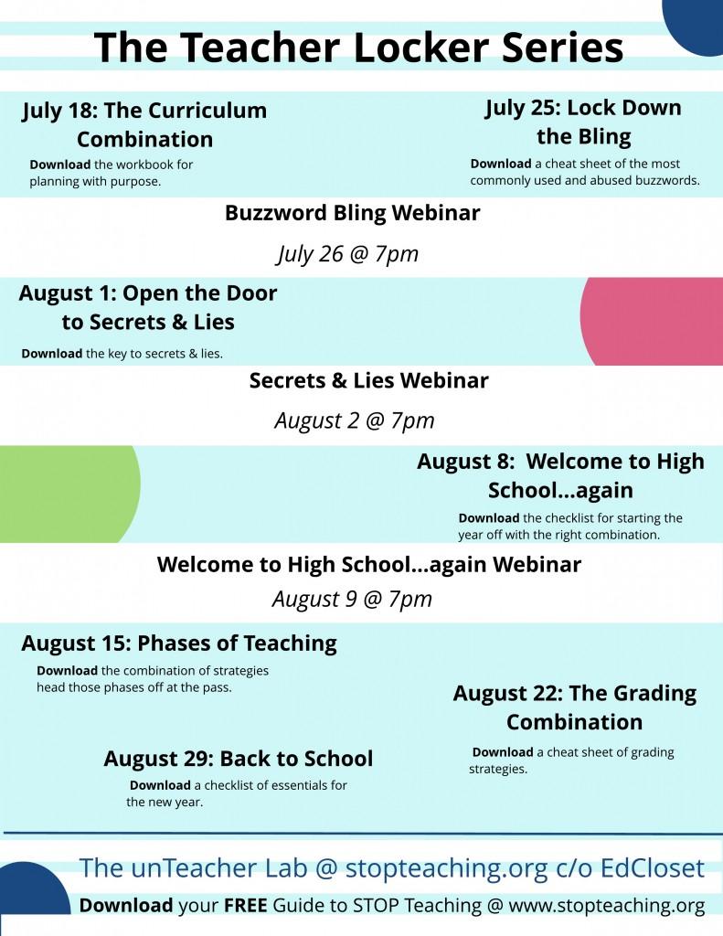 The Teacher Locker Series, Creating the Perfect Combination, Education Closet