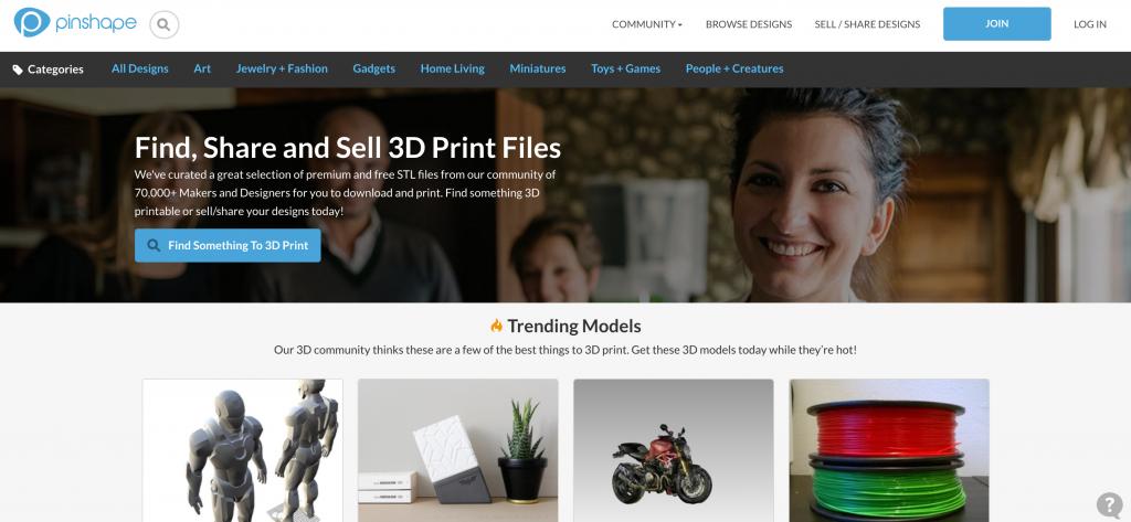 Obtaining A 3D Model, Pinshape, Education Closet