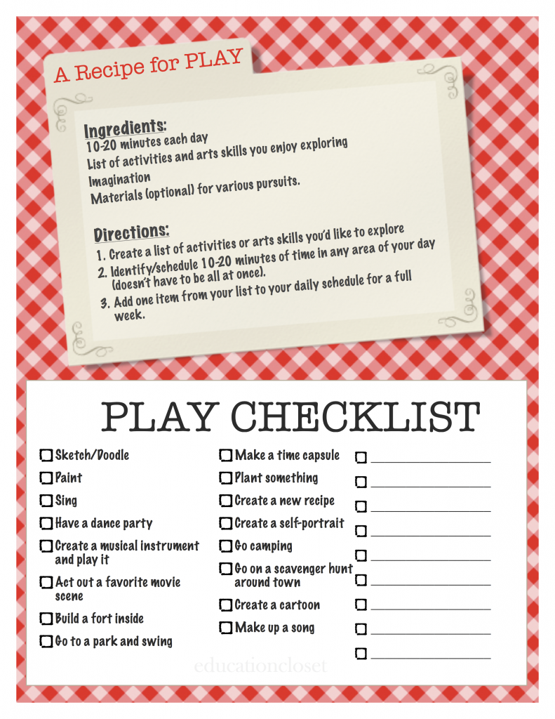 recipe for play