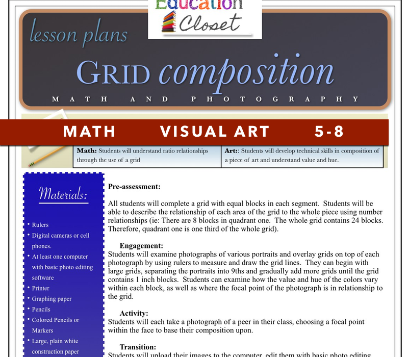 artist research paper lesson plan