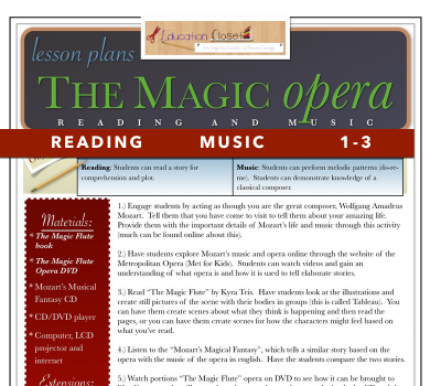 Lesson Plan Of The Week: Literature, Theatre, Broadway, And Dance