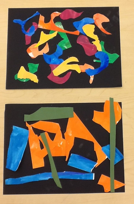 Painted paper collages, Education Closet