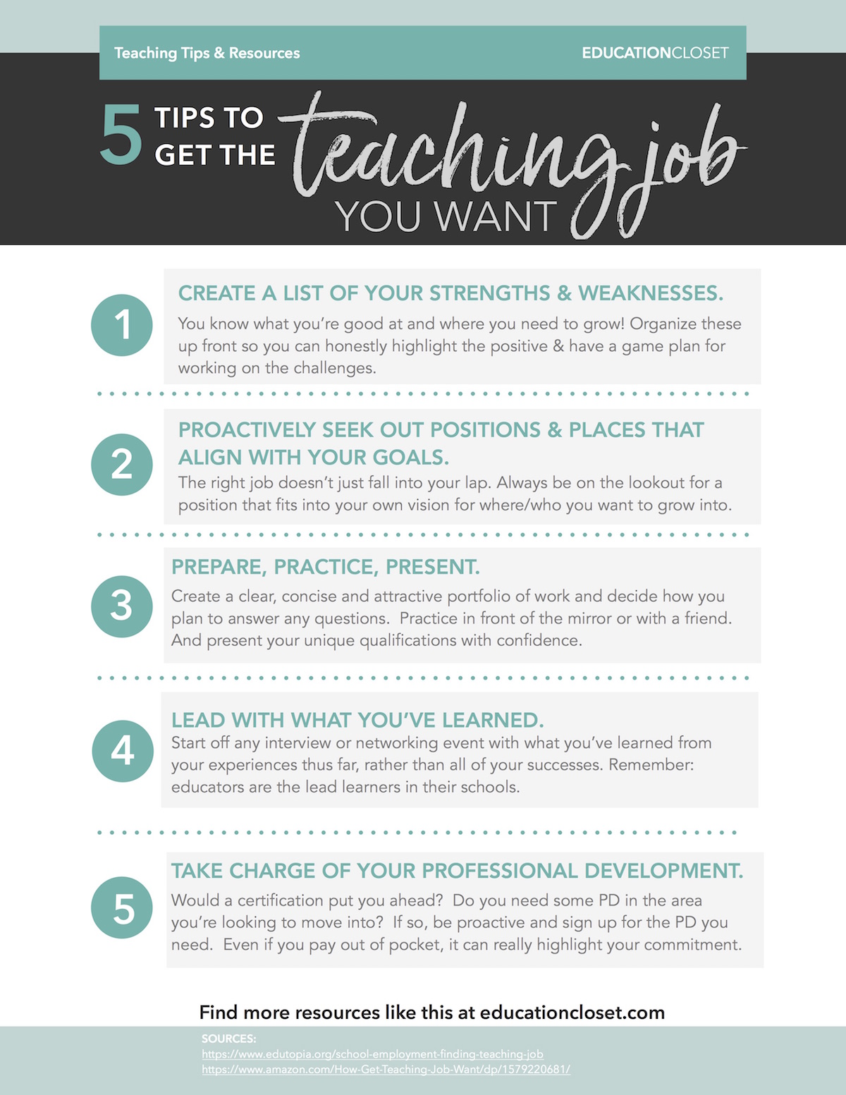 5 tips to get the teaching job you want educationcloset