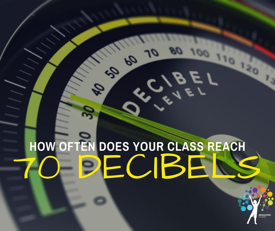 Does Your Class Reach 70 Decibels, EducationCloset