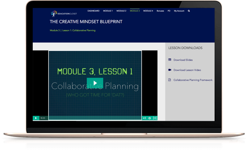 build creativity in the classroom using the creative mindset blueprint course