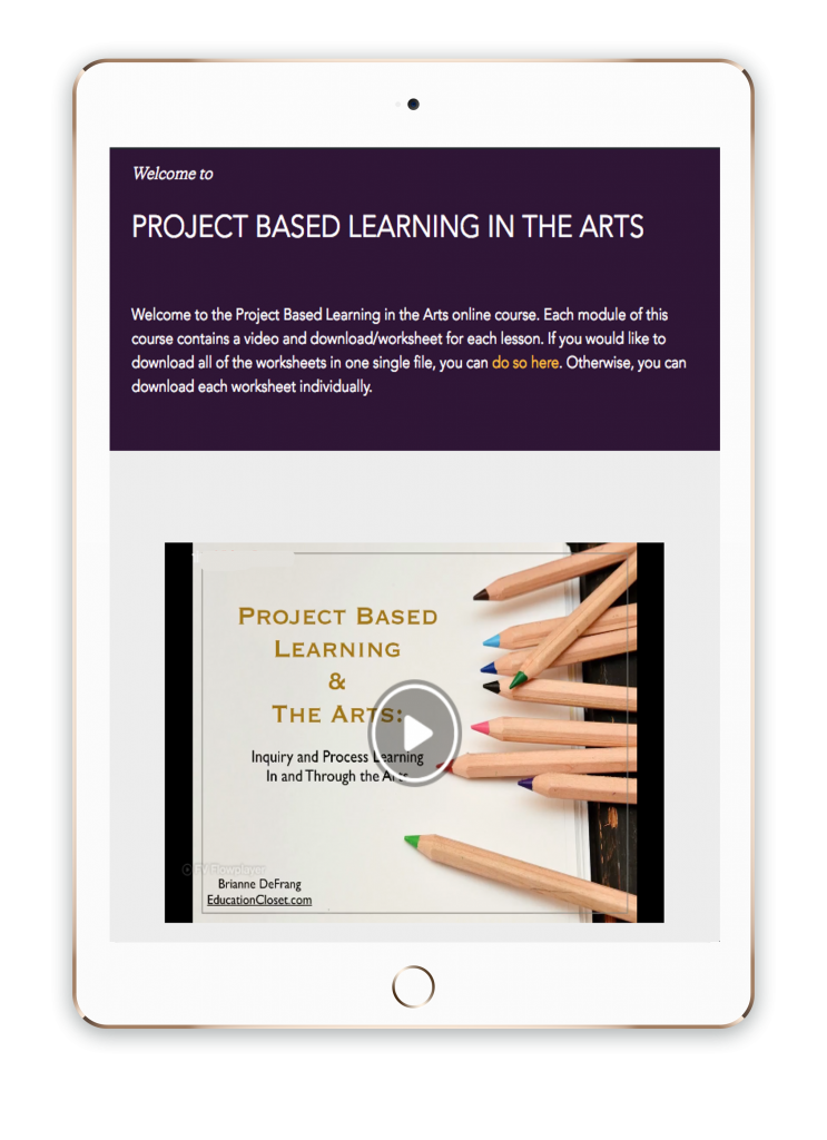 project based learning course for teachers