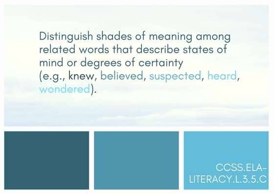 vocabulary strategies for shades of meaning