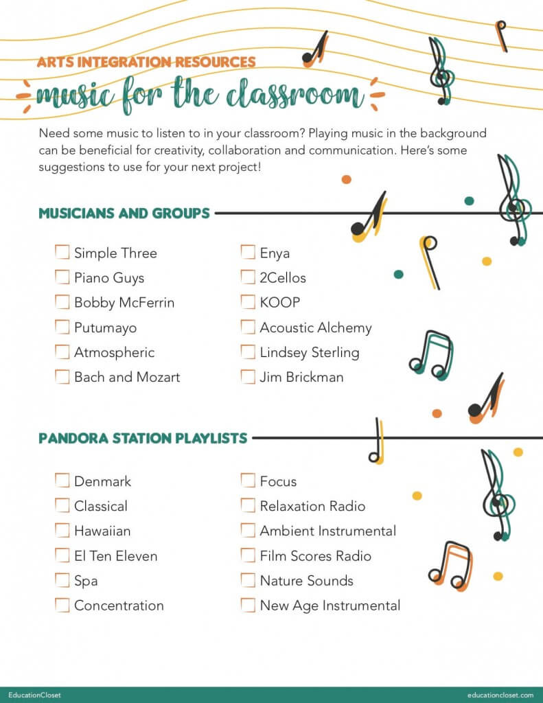 "Classroom Music Playlist Guide"" width="