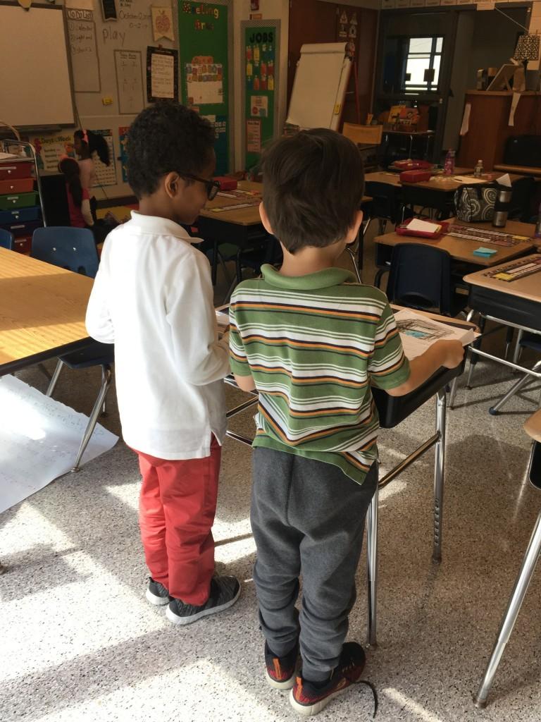 Student standing desks