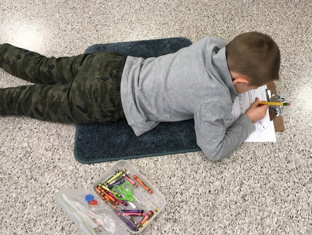 spreading out in the classroom