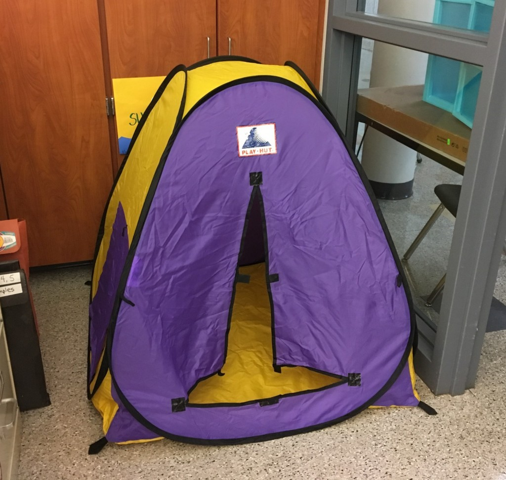 Tent for seating in the classroom