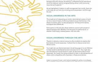 Social Emotional Learning through the Arts Resource