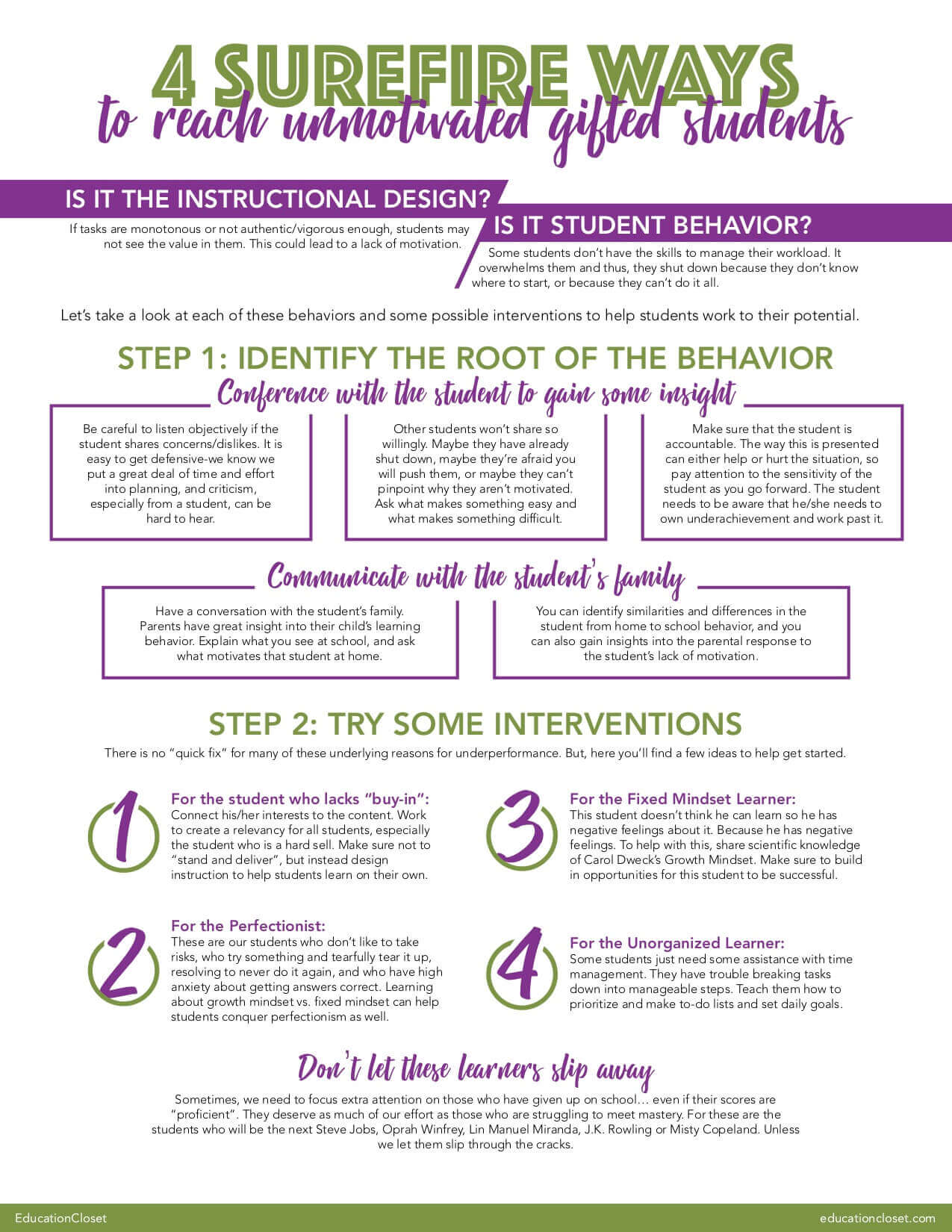 How to Motivate Gifted Students
