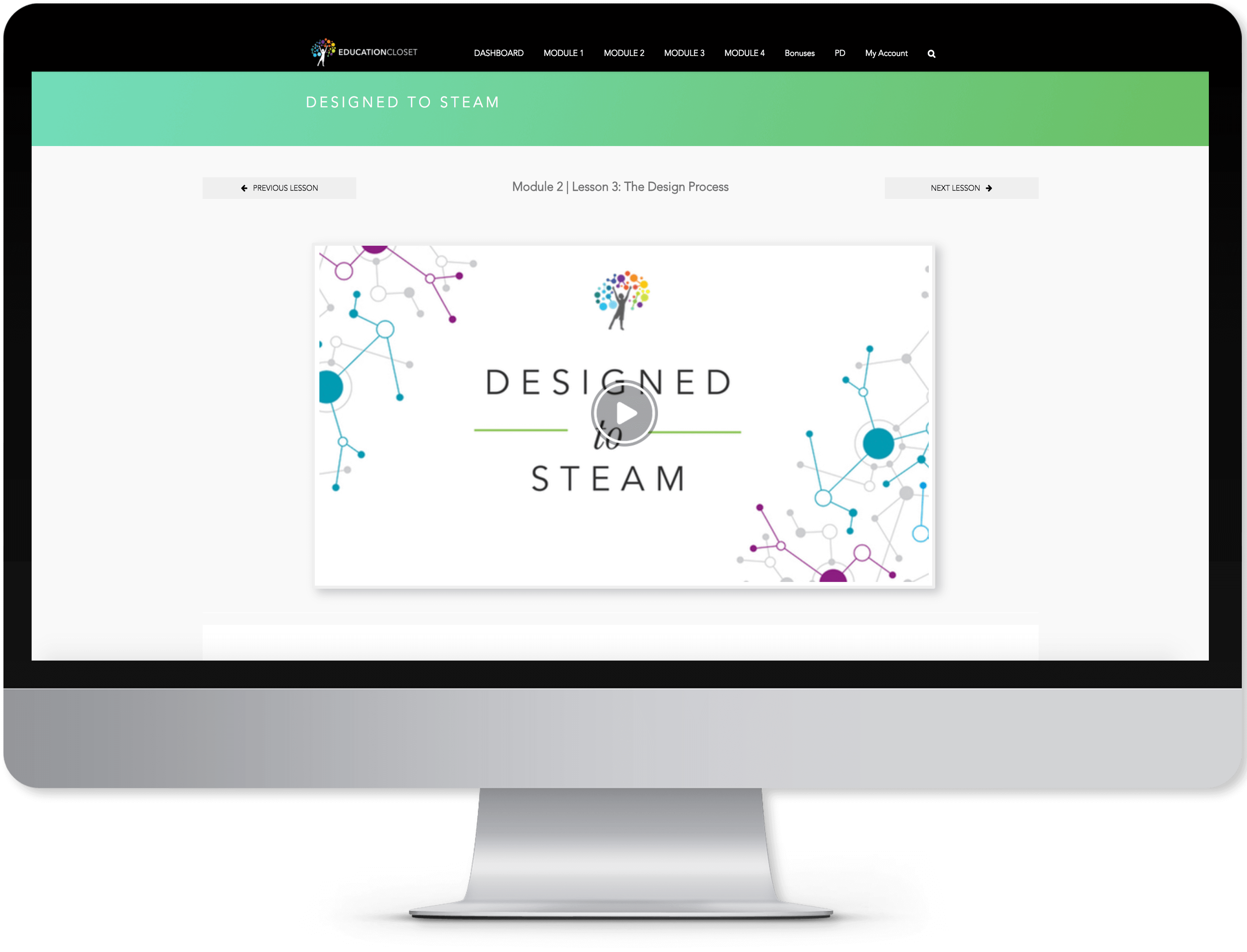 Designed to STEAM Online Course