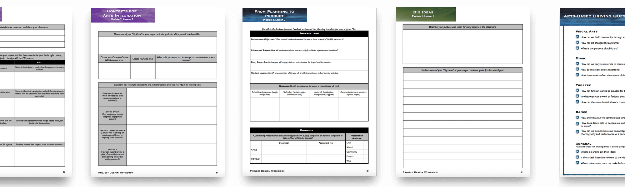 PBL course sample handouts