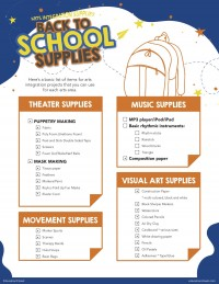 Back to School Supplies for Arts Integration