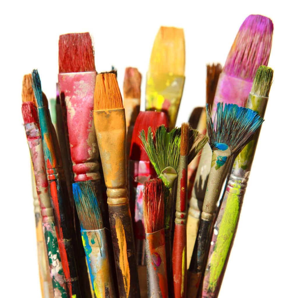 creative classroom paintbrushes