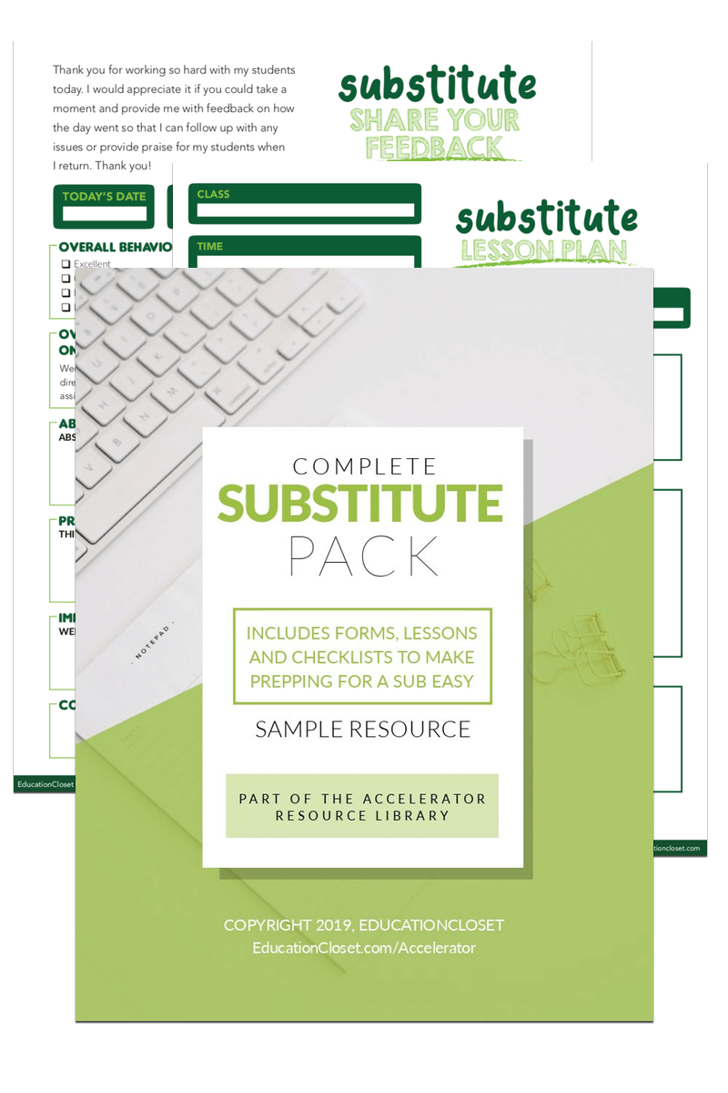 Substitute Pack Download