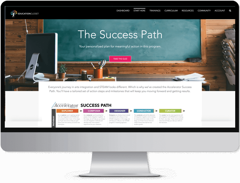 Accelerator arts integration and STEAM membership platform